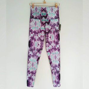 Onzie High Rise Basic Midi Legging Purple Tie Dye